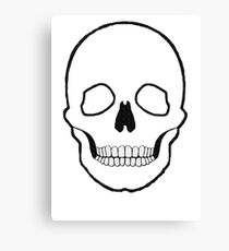 Skull black  Canvas Print