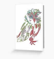 Colourful Owl Greeting Card