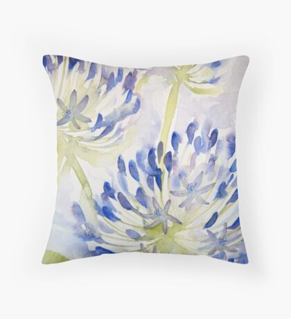 agapathus 'for the love of flowers' © 2007 patricia vannucci  Throw Pillow