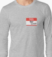 hi, my name is trey vine Long Sleeve T-Shirt