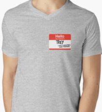 Camiseta para hombre de cuello en v hola, mi nombre es trey vine