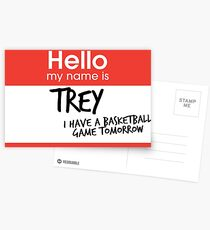 hi, my name is trey vine Postcards