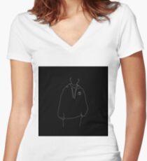 Louis Tomlinson Line Art Women's Fitted V-Neck T-Shirt