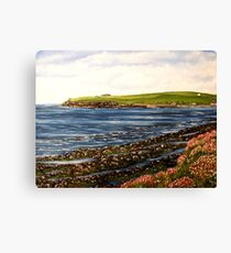 """Kilbaha - county Clare, Ireland"" - Oil Painting Canvas Print"
