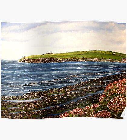 """Kilbaha - county Clare, Ireland"" - Oil Painting Poster"