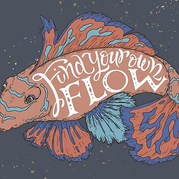 """Find your flow"" color typography poster by Umi-ko"
