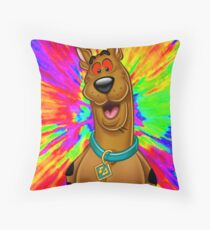 Scooby doo tripping out Throw Pillow