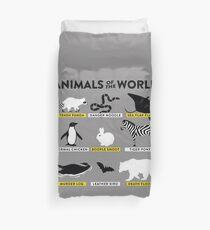 animals of the world shirt Duvet Cover