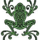 Komplizierter grüner und schwarzer Baum-Frosch von jeff bartels