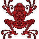 Komplizierter roter und schwarzer Baum-Frosch von jeff bartels