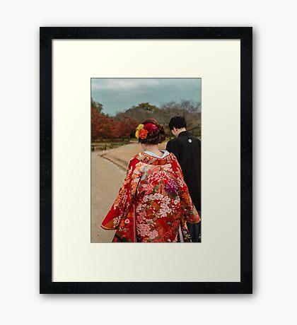 Kimono Bride Framed Print