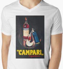 Campari Vintage Beverage Advertisement Poster Men's V-Neck T-Shirt