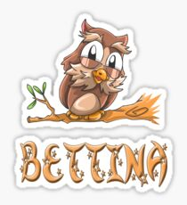 Bettina Owl Sticker