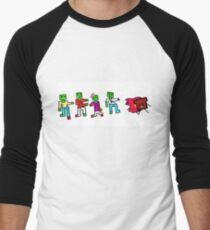 Zombies and Burnt Toast Men's Baseball ¾ T-Shirt