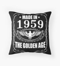 Made In 1959 - The Golden Age Throw Pillow