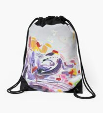 Painting of purple passion Drawstring Bag