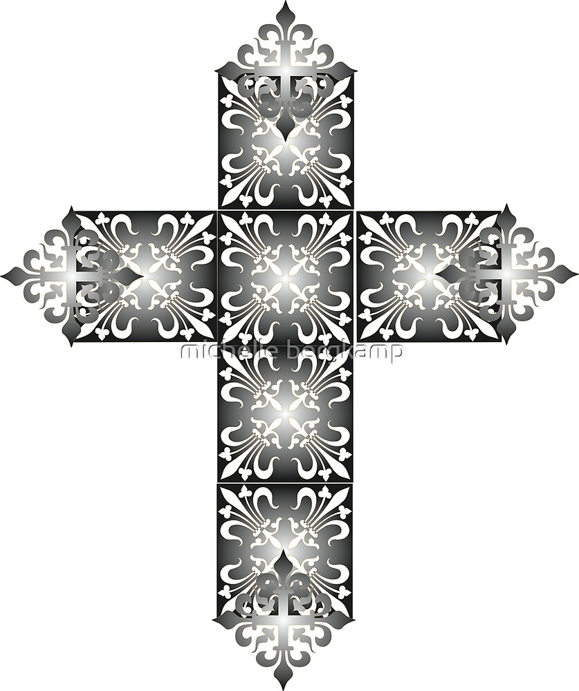 Decorative cross icon for web-page, scrap-booking, backgrounds and more by michelle bergkamp
