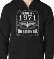 Made In 1971 - The Golden Age Zipped Hoodie