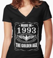 Made In 1993 - The Golden Age Women's Fitted V-Neck T-Shirt