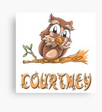 Courtney Owl Canvas Print