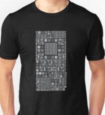 Cuadros gris Unisex T-Shirt