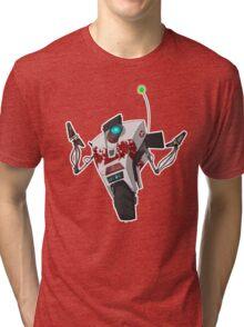 Dr. Zed's Claptrap Sticker Tri-blend T-Shirt