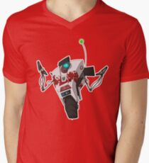 Dr. Zed's Claptrap Sticker Men's V-Neck T-Shirt