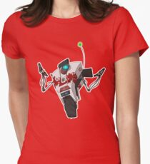 Dr. Zed's Claptrap Sticker Women's Fitted T-Shirt