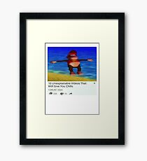Chilly Diddy Framed Print