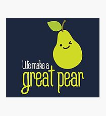 We make a great pear on dark Photographic Print