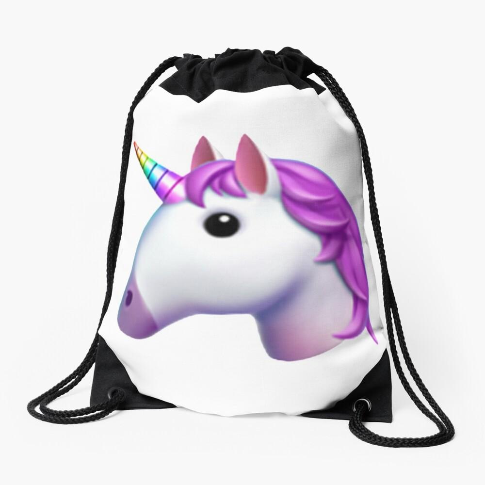 Einhorn Emoji Aufkleber Turnbeutel