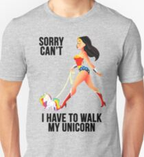 Sorry Can't I Have to Walk My Unicorn Unisex T-Shirt