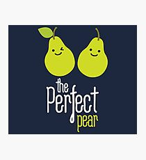 The perfect pear on dark Photographic Print
