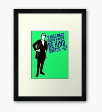 Dr Who Framed Print