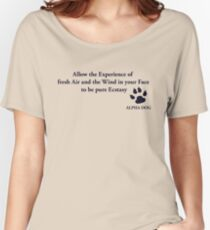Alpha Dog #2 - Allow the Experience.... Women's Relaxed Fit T-Shirt