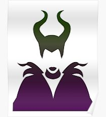 Maleficent Ombre / Purple and Green Poster