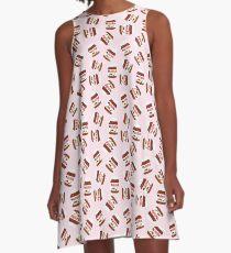 Nutella Forever - Scatter - Pink A-Line Dress