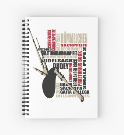 Sackpfeifen Textwolke Spiral Notebook