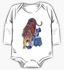 Colorful Chinese Zodiac Animals Year of the Tiger One Piece - Long Sleeve