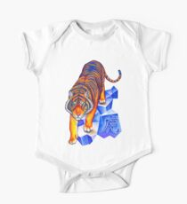 Colorful Chinese Zodiac Animals Year of the Tiger One Piece - Short Sleeve