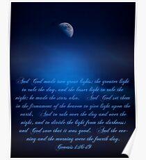 Genesis 1:16-19 Poster