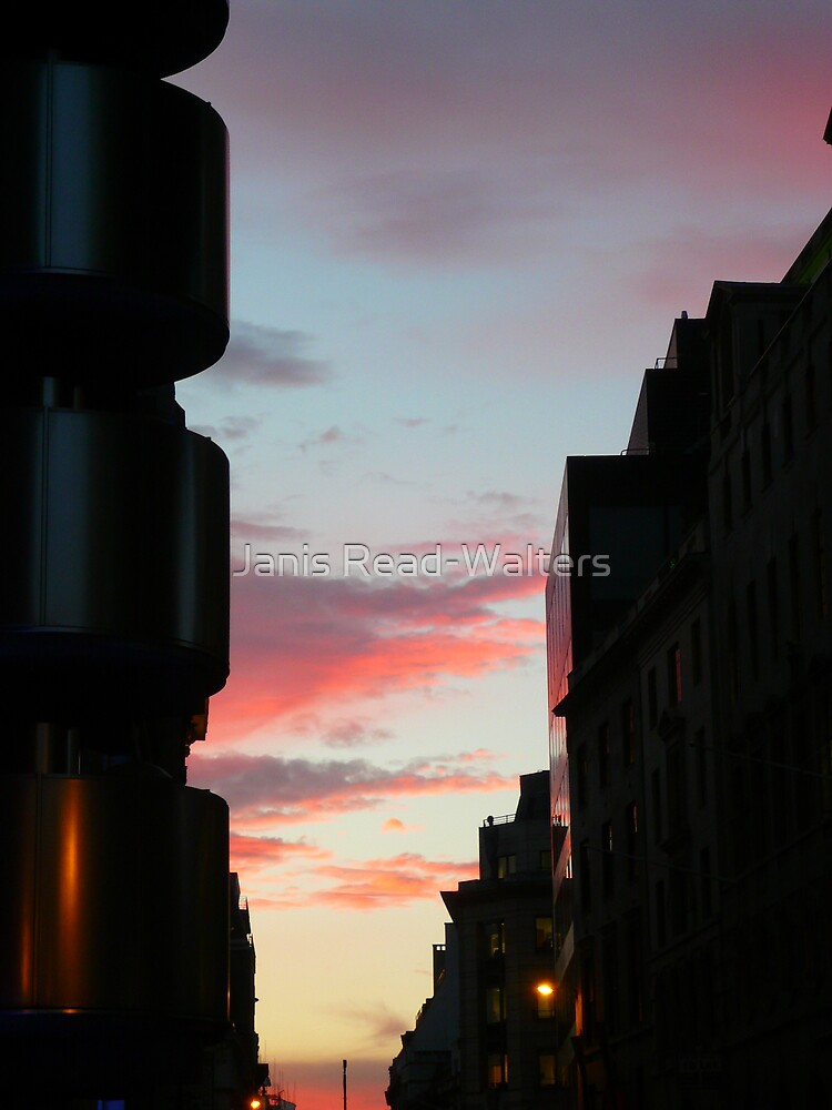 city sunset by Janis Read-Walters