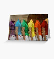 rainbow window Greeting Card