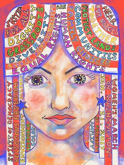 Buntes Manifest für den Frauenmarsch auf Washington 2017 von Lois Keller