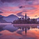 Sunrise at Lake Bled by Curtis Budden