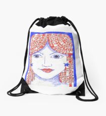 Women'sMarch on Washington 2017 Red, White and Blue Drawstring Bag
