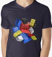 Picasso Toy Bricks Men's V-Neck T-Shirt