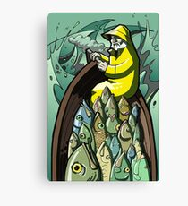 Fish On or Gorton Returns Canvas Print