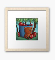 Teddy Bear Apple Basket Framed Print