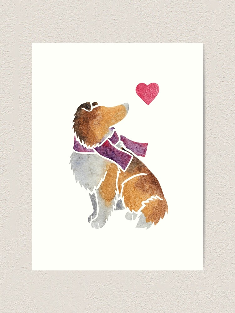 Alternate view of Watercolour Rough Collie Art Print